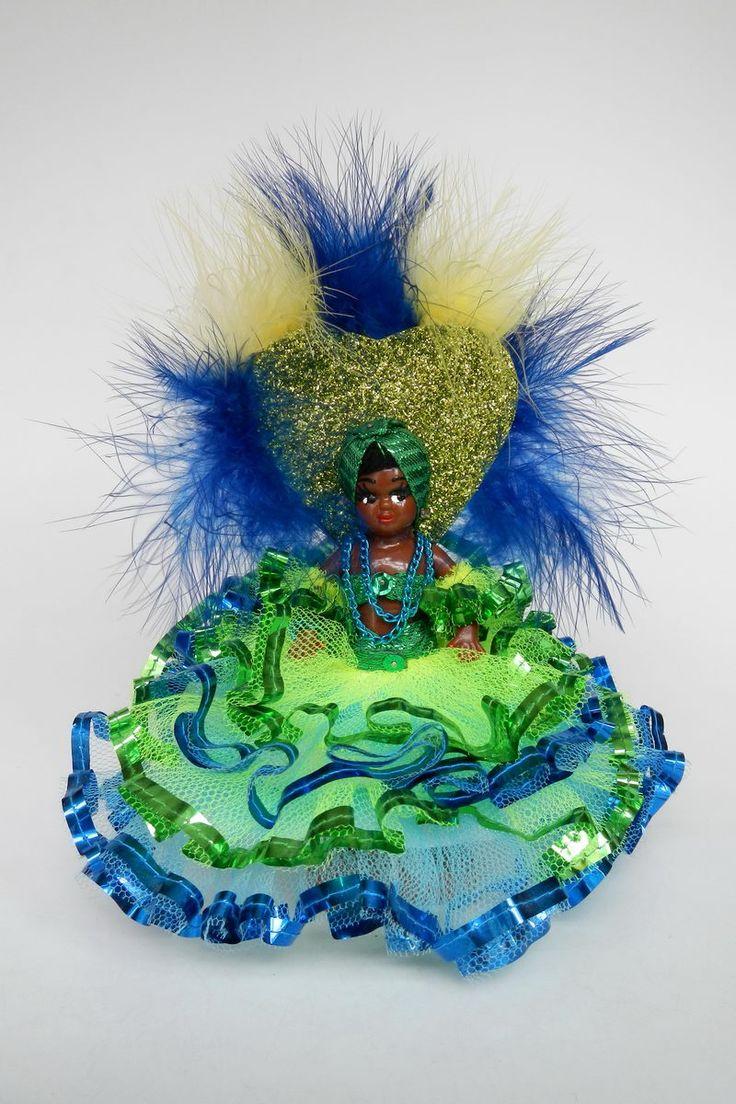 Brasil | Carnival doll from Rio de Janeiro marked Baiana Rosinha