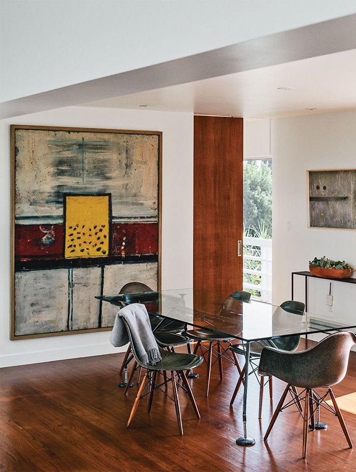 Modern Los Angeles Renovation By Don Dimster With Norman Foster Dining Table And Eames Chairs In