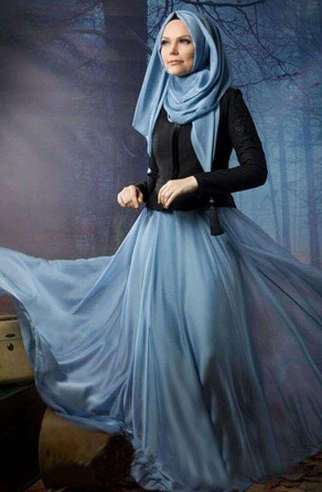 Grey/blue skirt