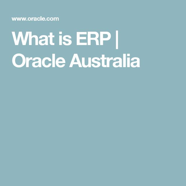 What is ERP | Oracle Australia