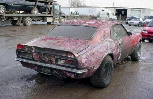 1968 Camaro Project For Sale | Camaro For Sale - Repairable Project Car Camaros For Sale - '67 Camaro ...