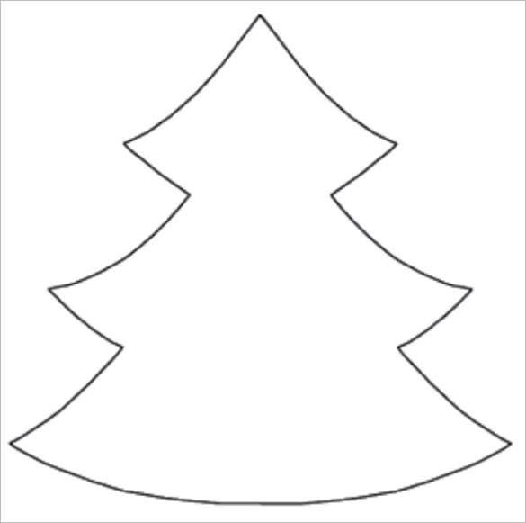 40+ Christmas Tree Clipart Black And White Outline