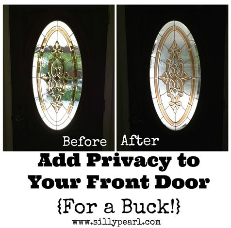 Add Privacy To A Glass Front Door For A Dollar Pinners R