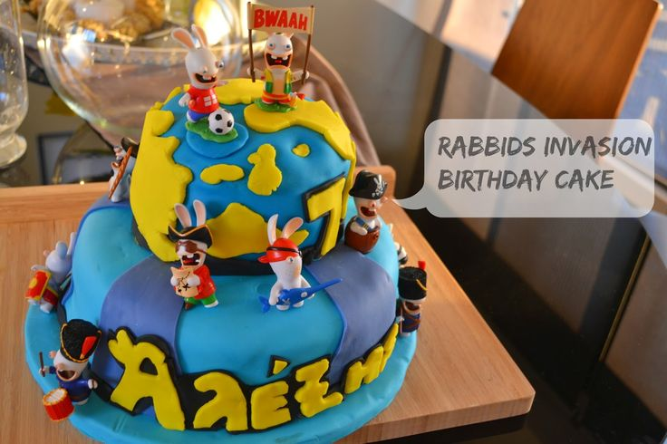 Craft Cook Love: Τούρτα Rabbids Invasion - Birthday Cake Rabbids Invasion