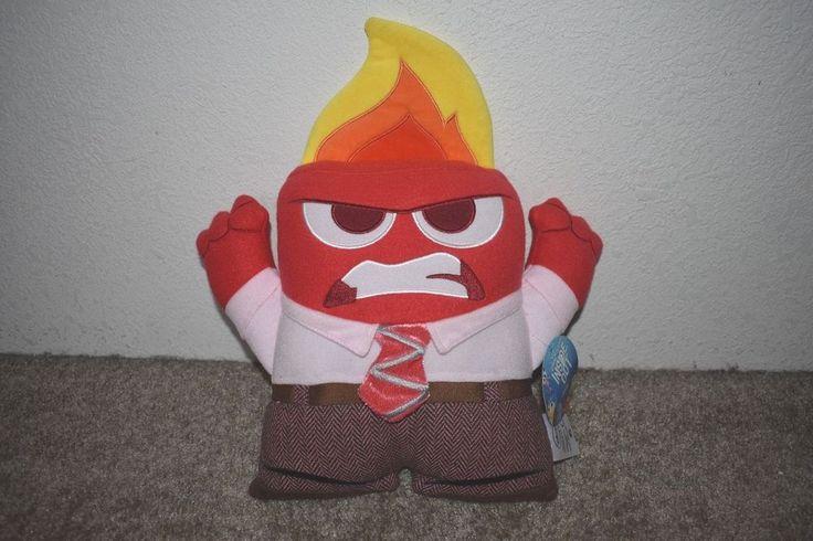 "NWT Disney Pixar Inside Out Anger Flame Head Emotion Plush Toy 13.5"" #pixar"