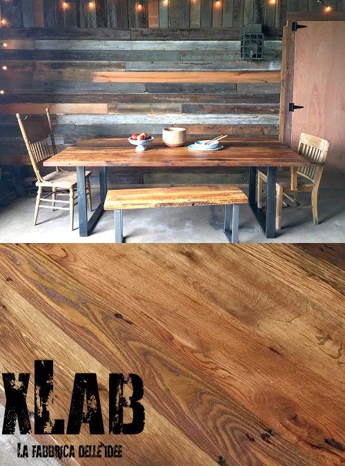 Tavolo da pranzo di alto design, un tavolo in legno massello, costruito per far accomodare 8 persone, un design semplice vintage per il nuovo tavolo da pranzo firmato Xlab