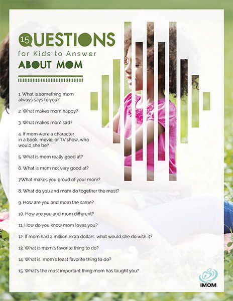 Moms, ask these 15 questions for kids to your own children and get ready to laugh... and maybe even cry a little.