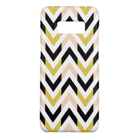 Trendy Geometric Faux Glitter Chevron Pattern Case-Mate Samsung Galaxy S8 Case