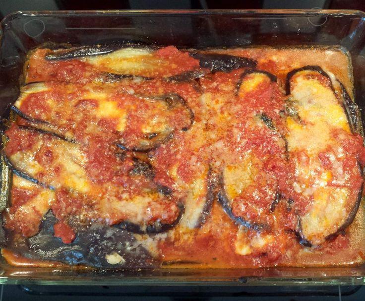 Rezept Parmigiana (ital. Auberginenauflauf mit Tomatensauce und Parmesan) von AndreaAusDdorf - Rezept der Kategorie Hauptgerichte mit Gemüse
