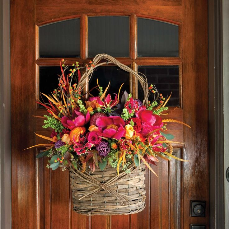 Fall Door Wreaths & 143 best Wreaths Swags and Door Decor images on Pinterest | Swag ... pezcame.com