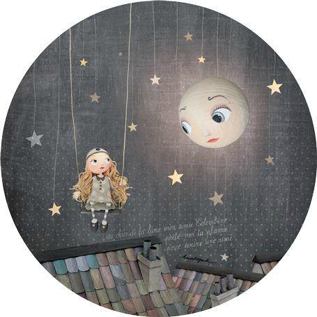 Swinging under Moonlight. Chloe Remiat Illustration