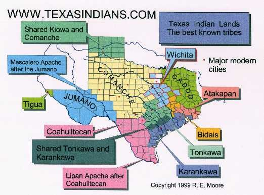 Comanche Indians Of Texas | Texas Indians.com Maps