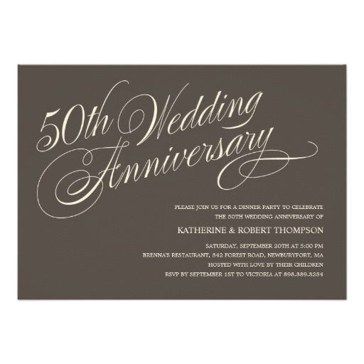 185 best anniversary party invitations images on pinterest charcoal 50th anniversary celebration invitation stopboris Image collections