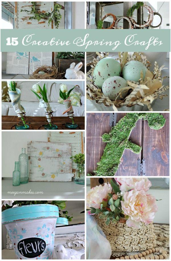 15 Creative Spring Crafts #whatmeeganmakes #spring…