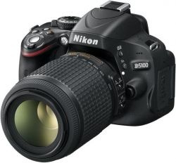 Aparat Foto D-SLR NIKON D5100 (Negru) cu Obiectiv 55-200 VR, Filmare Full HD