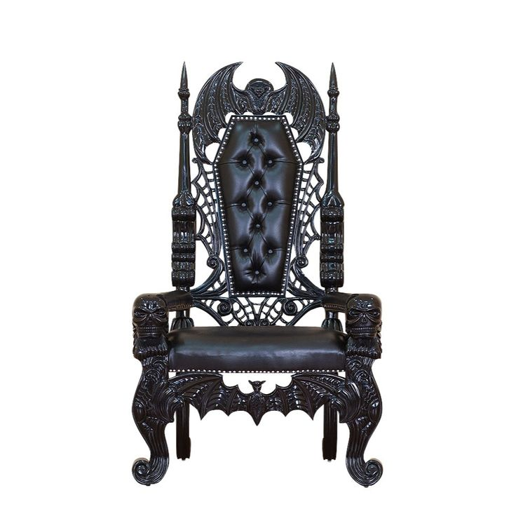 Raised By Bats Throne... ok so this is just a omg look at this i wish i was loaded so i could frivolously buy something so awesome. but matte black looks so cool on this.