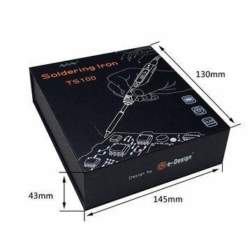 MINI UpGrade TS100 Digital OLED Programable Interface DC5525 Soldering Iron Station Built-in STM32 Chip Sale - Banggood.com