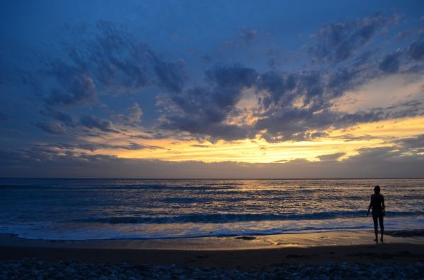 Gazing at the horizon, Agios Gordios beach