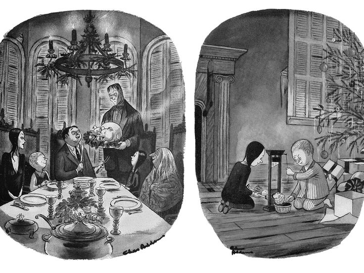 Horror Illustrated Chas Addams Cartoons The Addams Family Addams Family Cartoon Family Cartoon Addams Family Musical