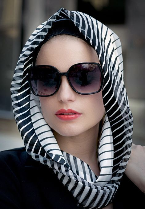 Hijab with matching sunglasses trend