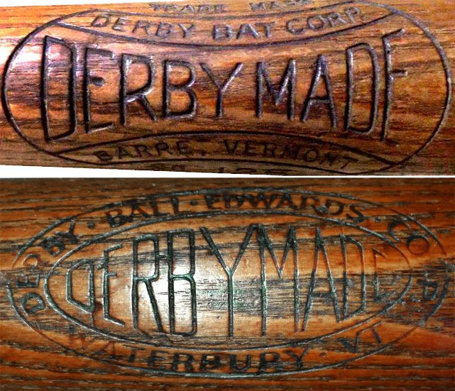 In 1920 Edwards Edwards Co Merged With Derby Ball Forming Derby Ball Edwards Corp And Began Making Baseball Bats In 1933 Th Bat Baseball Bat Wood Bat