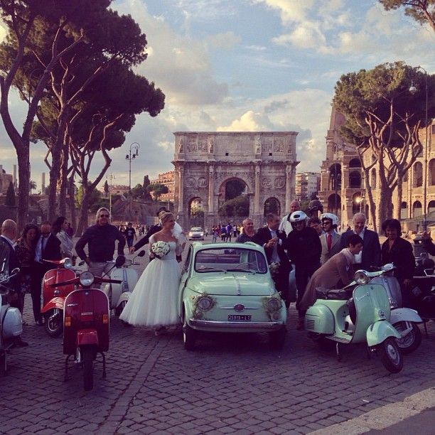 Roman Holiday Vespa Wedding
