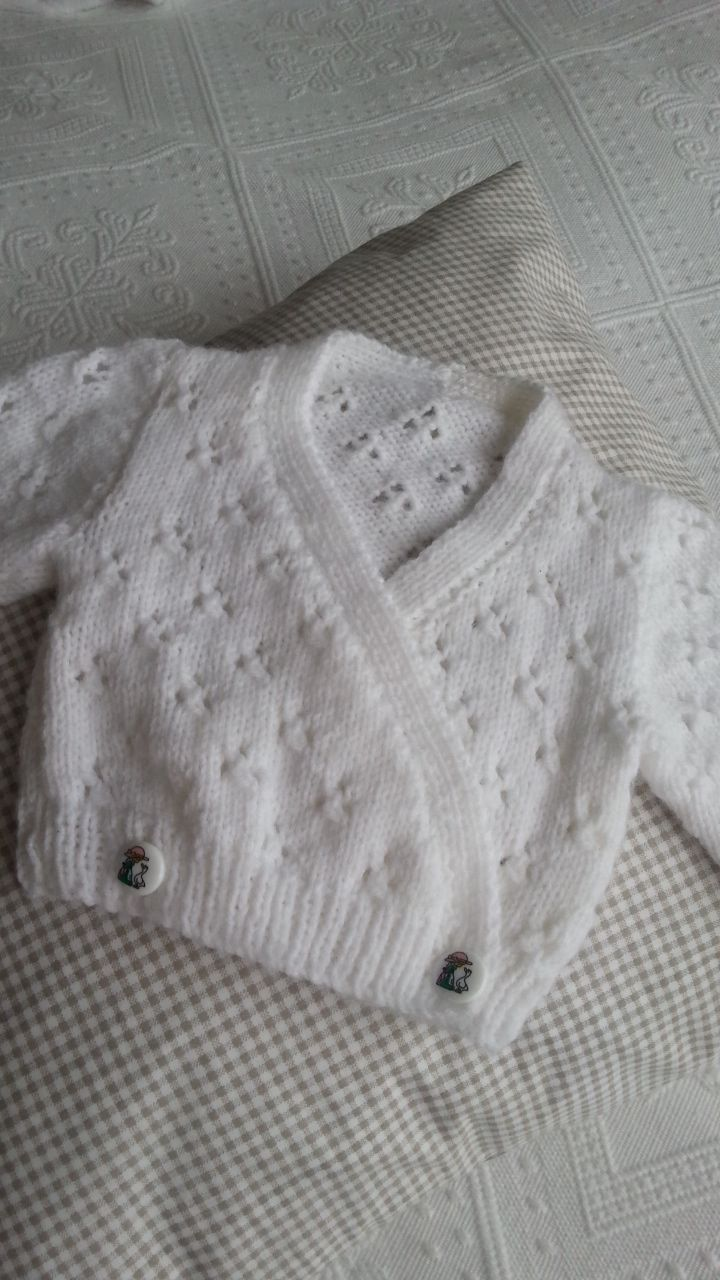 Babys first little cardigan