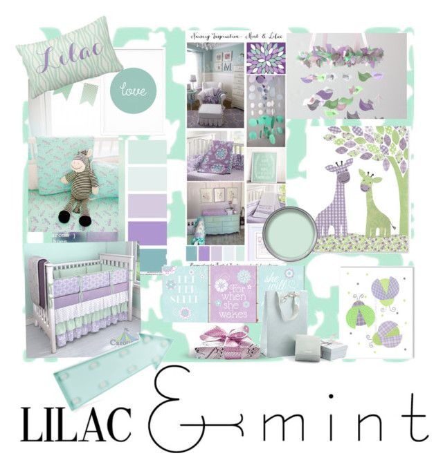 """Lilac and Mint Nursery"" by sheri-gifford-pauline ❤ liked on Polyvore featuring interior, interiors, interior design, home, home decor, interior decorating, New Look, Just Diamond, colorchallenge and lilacandmint"