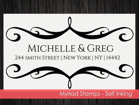 Self Inking Stamp Envelope  Custom Address by LittlePrintsStamps
