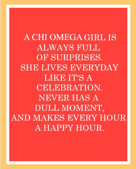 a chi omega girl