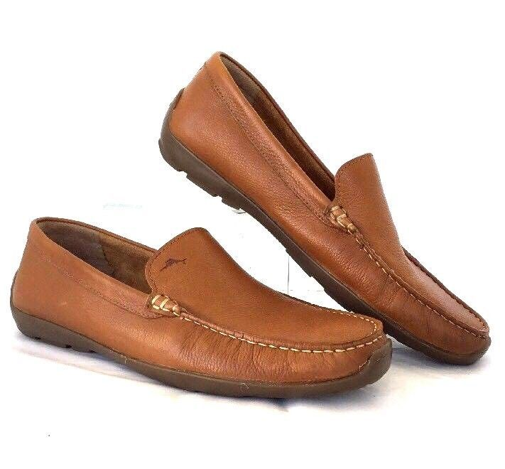 Tommy Bahama Mens Driving Loafer 12M Orion Venetian Tan Leather Moccasin   #TommyBahama #LoafersSlipOns