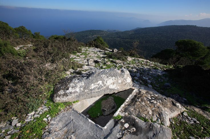 On the mountain Karia of #Skopelos you can visit #Sentoukia, the 4 rock-cut tombs dated back to the Roman or early Christian period. Rock-cut tombs were carved into a porous part of the rock in the shape of a box (larnax). They were family tombs and they usually were privately owned.