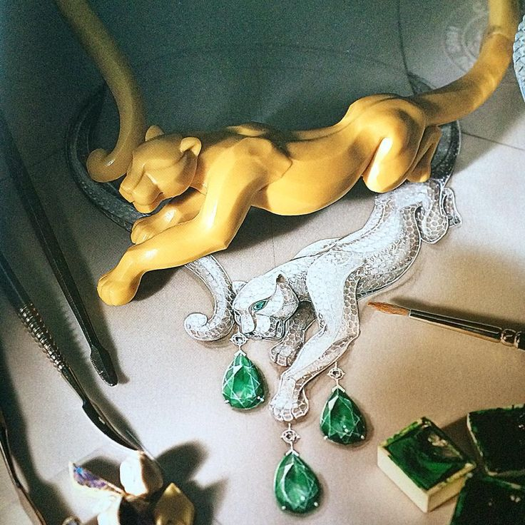 """""""Work in progress: a carved resin panther used to study volumetric measurements from the new Cartier Panthère published by #Assouline #cartier…"""""""