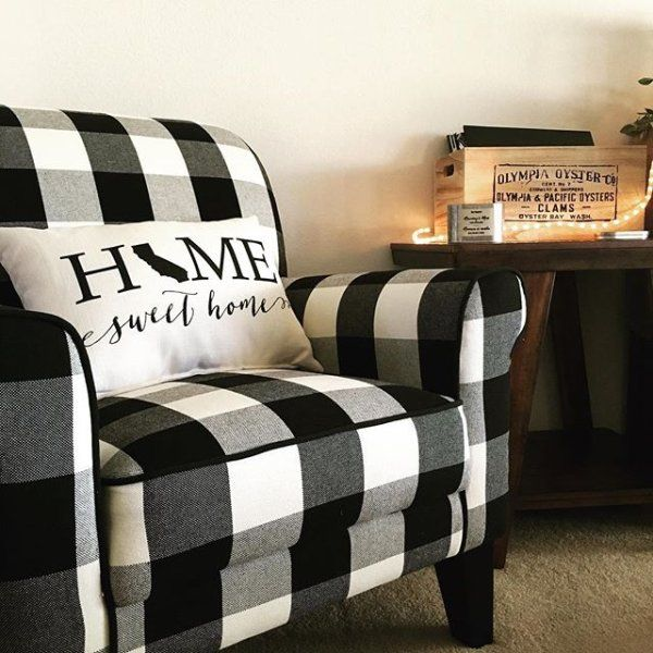 Groovy Lyndee Buffalo Check Black Chair In 2019 Living Room Machost Co Dining Chair Design Ideas Machostcouk