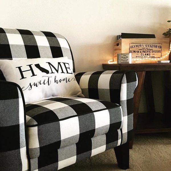 Lyndee Buffalo Check Black Chair Pier 1 Imports Farm House