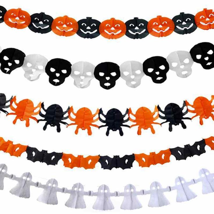 halloween paper decorations that are cheap and affordable these halloween paper garlands are simple halloween