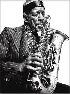 The totally incomparable Ornette Coleman (I love this portrait!)