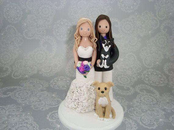 same+sex+wedding+cake+toppers | Custom Made Same Sex Wedding Cake Topper