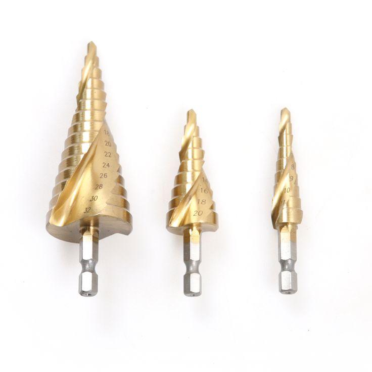 $15.46 (Buy here: https://alitems.com/g/1e8d114494ebda23ff8b16525dc3e8/?i=5&ulp=https%3A%2F%2Fwww.aliexpress.com%2Fitem%2F3pcs-set-HSS-mental-drilling-core-drill-bit-tool-hex-spiral-step-drill-bits-set-4%2F32700213450.html ) 3pcs/set HSS Step Drill 4-12mm 4-20mm 4-32mm Hex Spiral Groove Stepped Drill For Drilling On Metal  for just $15.46
