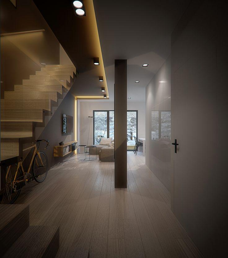 Living room design in POLAND - archi group. Pokój dzienny w domu jednorodzinnym w Siemianowicach Śląskich.
