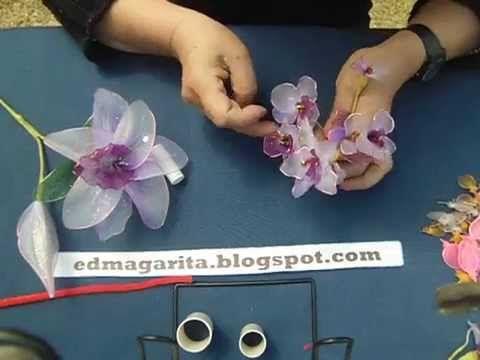 Tutorial: Flores Pequeñas de Nylon - YouTube