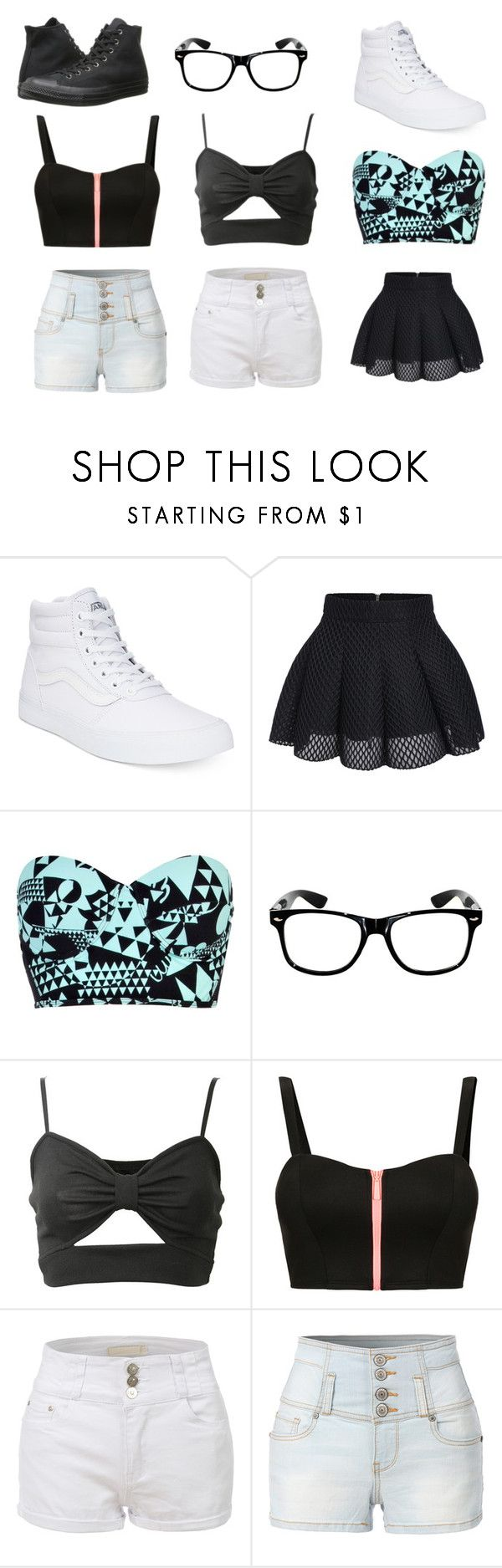 """Style"" by rmickle on Polyvore featuring Vans, River Island, TALLY WEiJL, LE3NO and Converse"