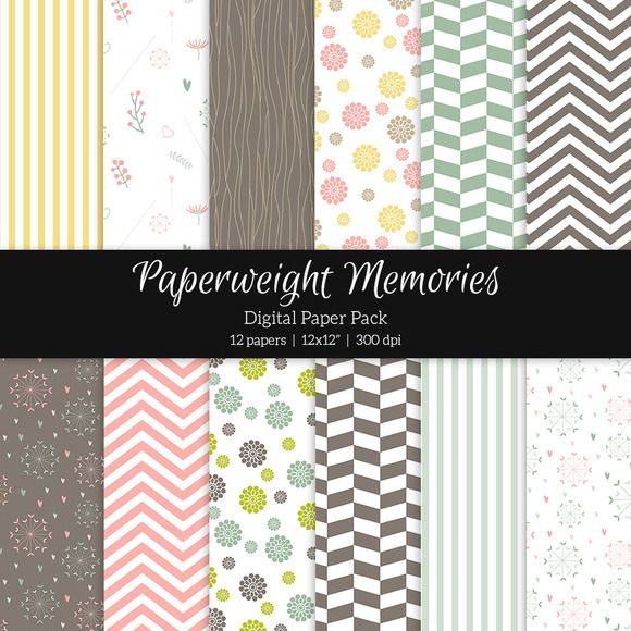 Patterned Paper - Summer Meadow by Paperweight Memories on @creativemarket ... https://crmrkt.com/Apk9d