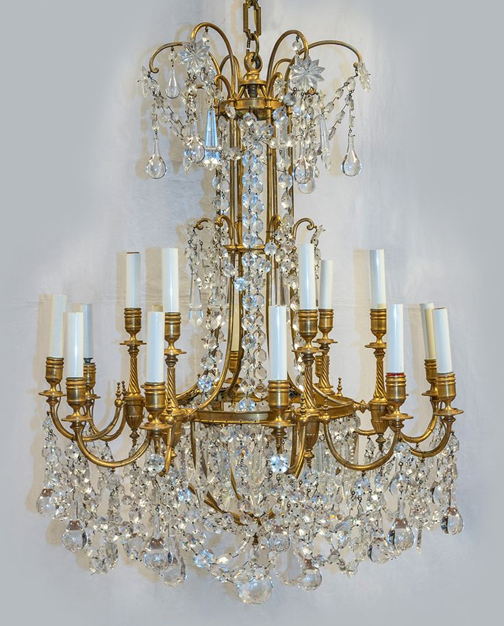 A Magnificent Century French Ormolu And Baccarat Crystal Chandelier