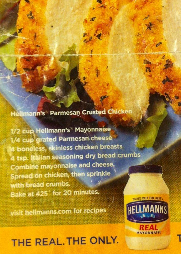 Hellman's parm chicken recipe - a family favorite!