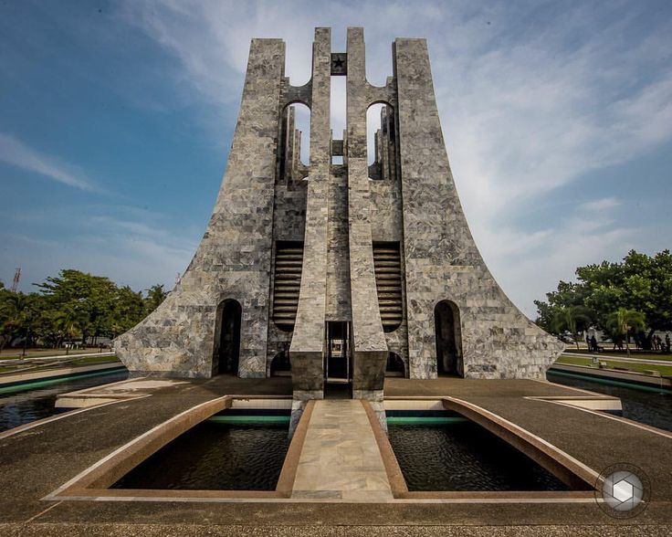 The Dr. Kwame Nkrumah Mausoleum. Rest place for the body ...