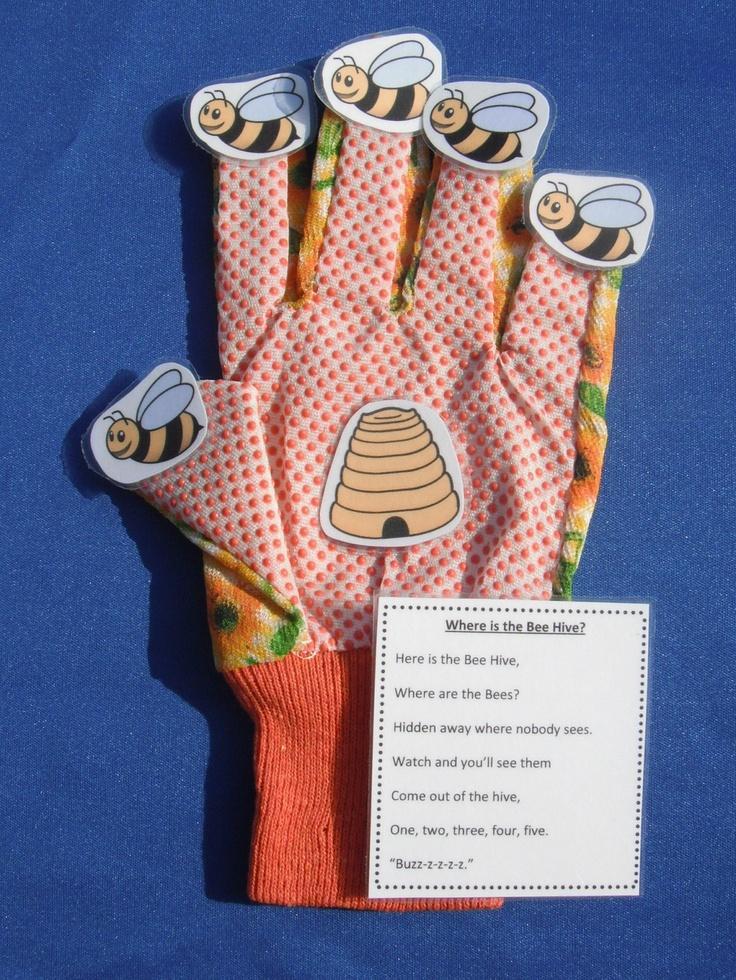 Where is the Bee Hive Glove Hand Finger-Play Puppet Preschool Homeschool. $4.50, via Etsy.