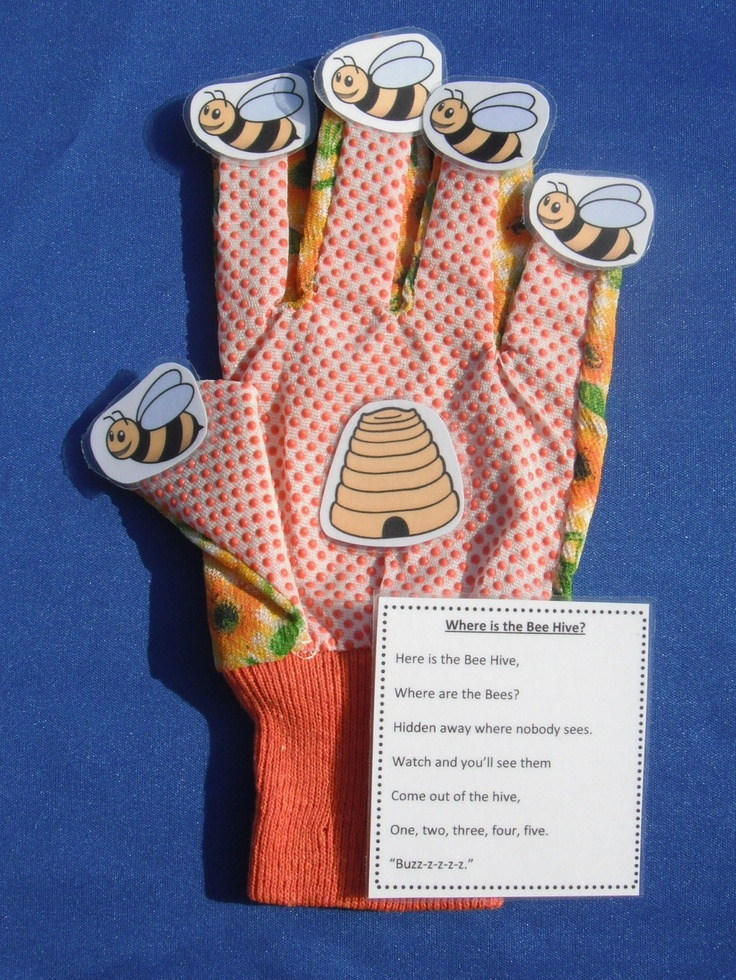 Bee Hive Glove Hand Finger-Play Puppet