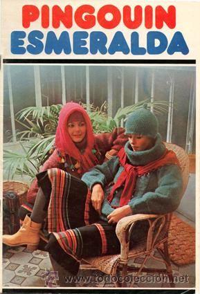 Revista *PINGOUIN ESMERALDA · Ropa de Punto. Labores* Vintage - 32 páginas-26 modelos - Año 1976: