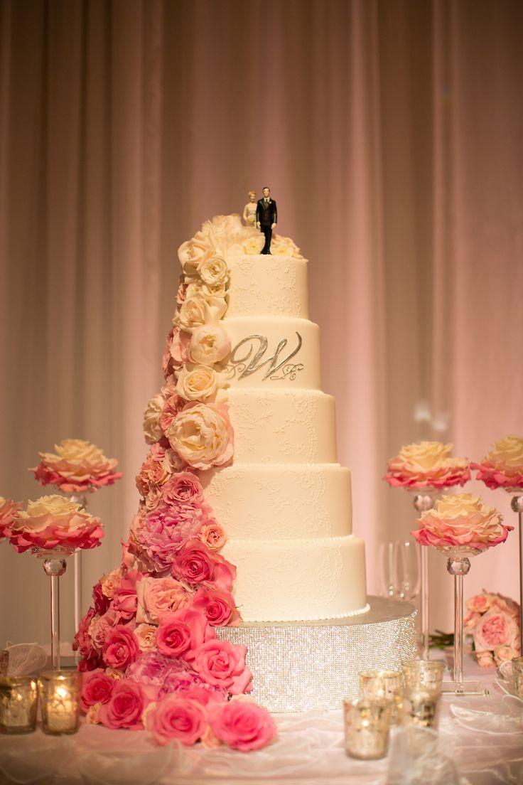 wedding cakes in lagunbeach ca%0A Pink  u     White Wedding with Ombr   Details at Montage Laguna Beach
